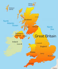 UK Map for short cottage breaks